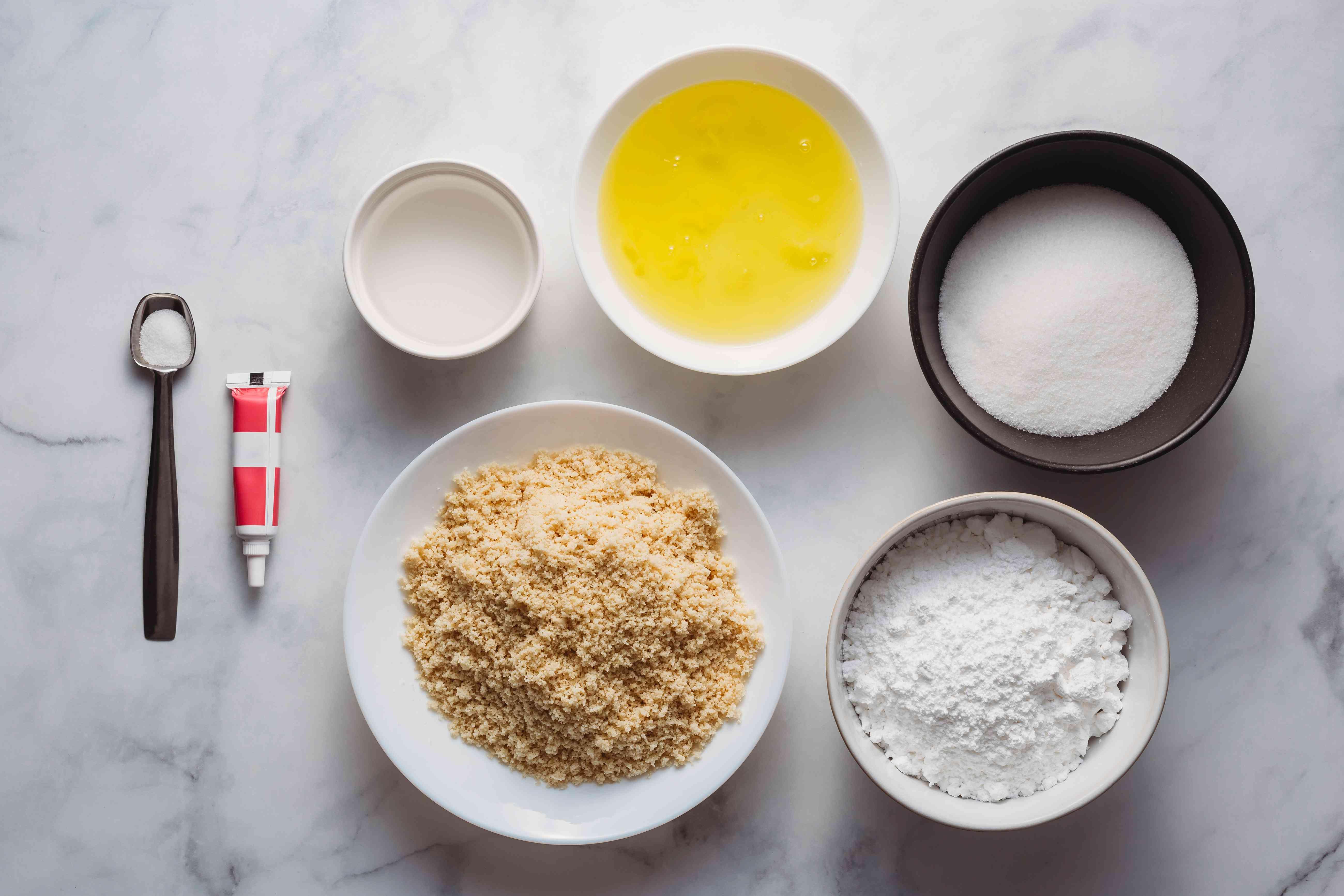 Macarons ingredients