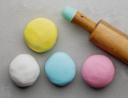 Colored fondant