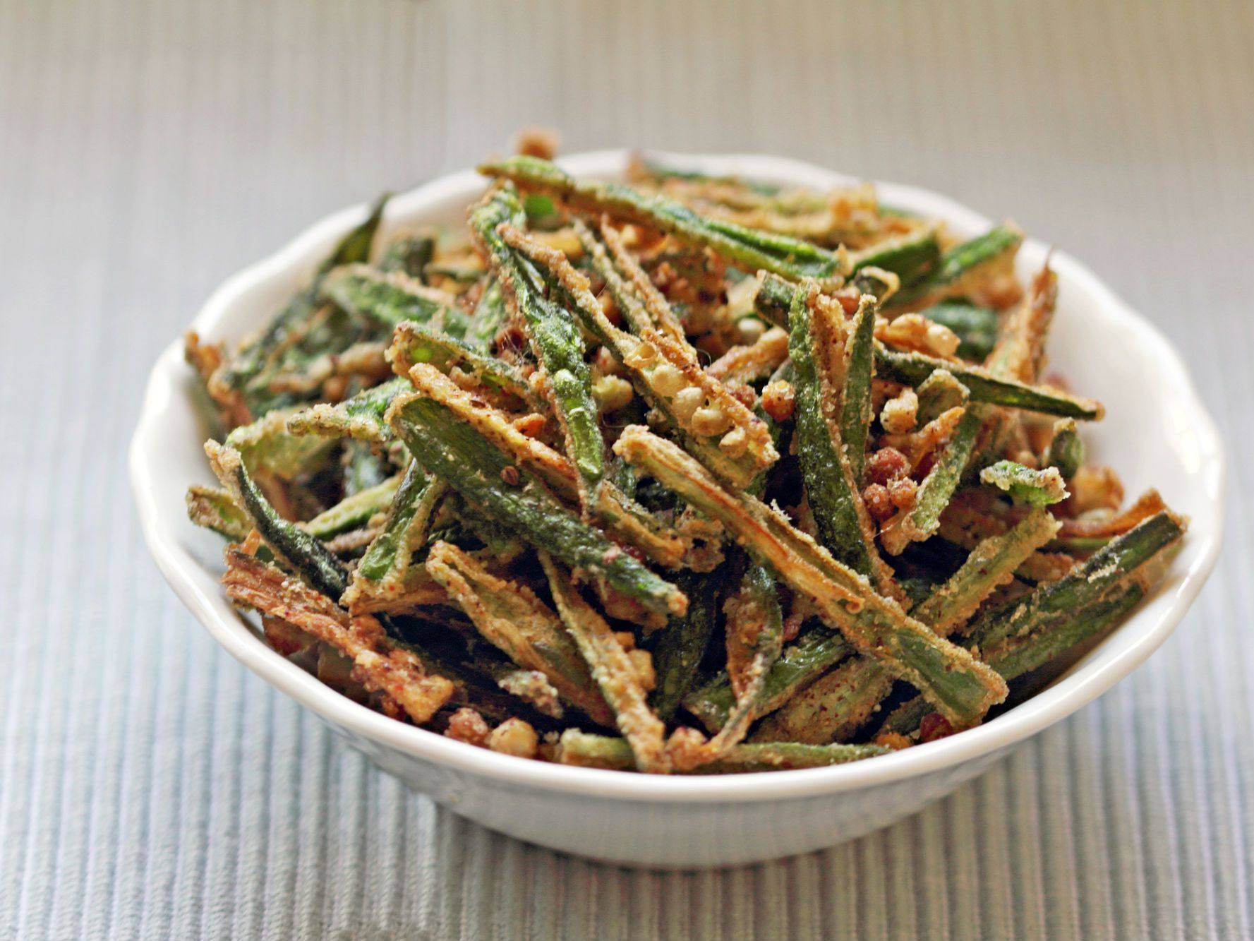 Kurkuri Bhindi Indian Crispy Okra Recipe