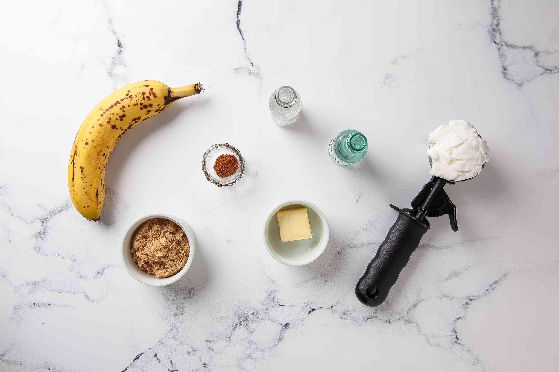 Bananas Foster ingredients