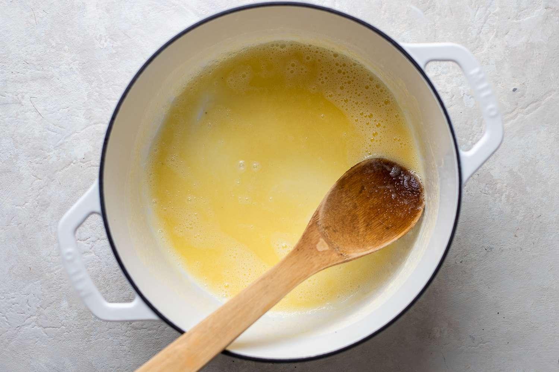 Melt remaining butter
