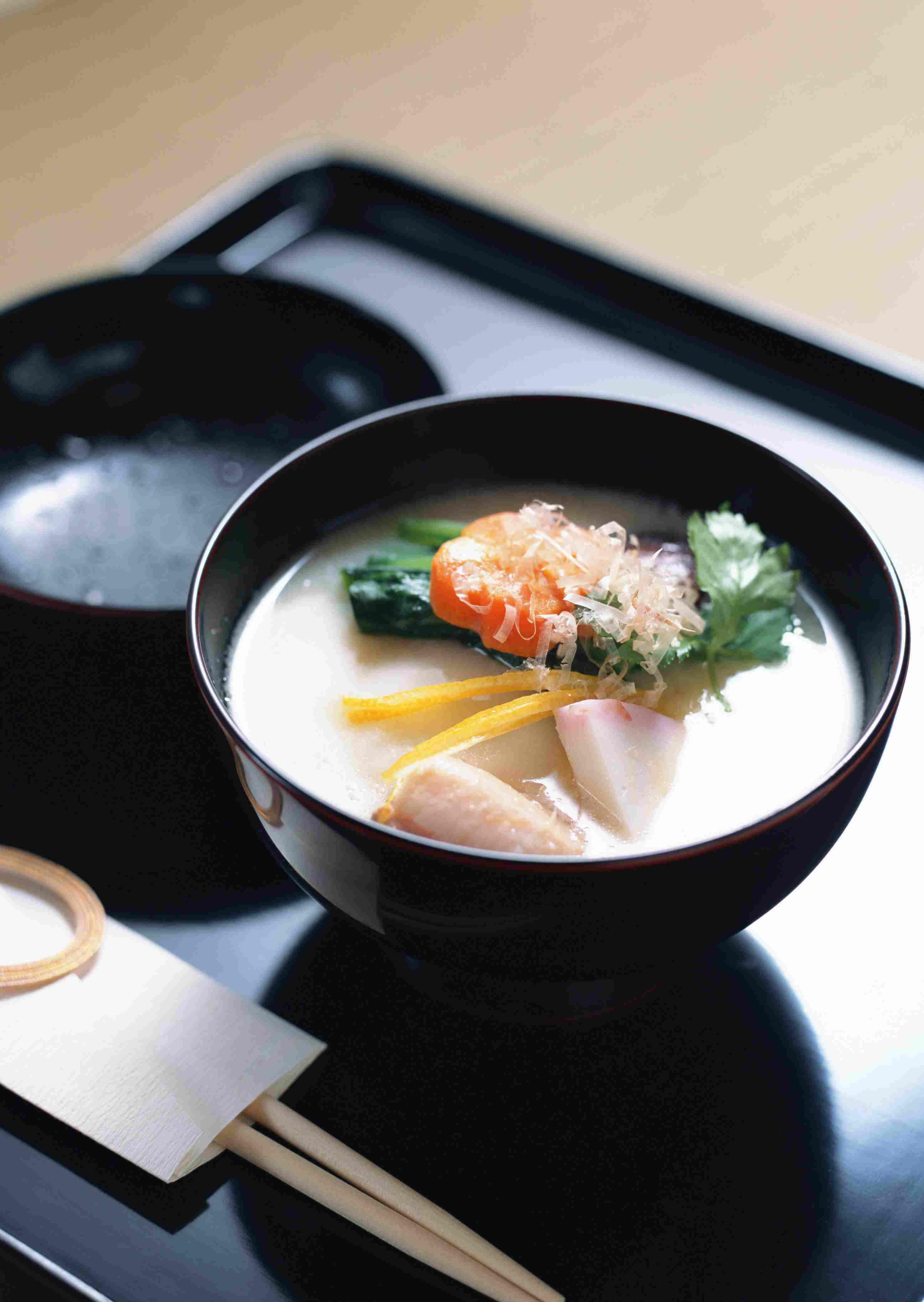 Saikyo Miso Ozoni (White Miso Mochi Soup for New Years)