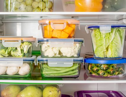 Stored Food in Refrigerator