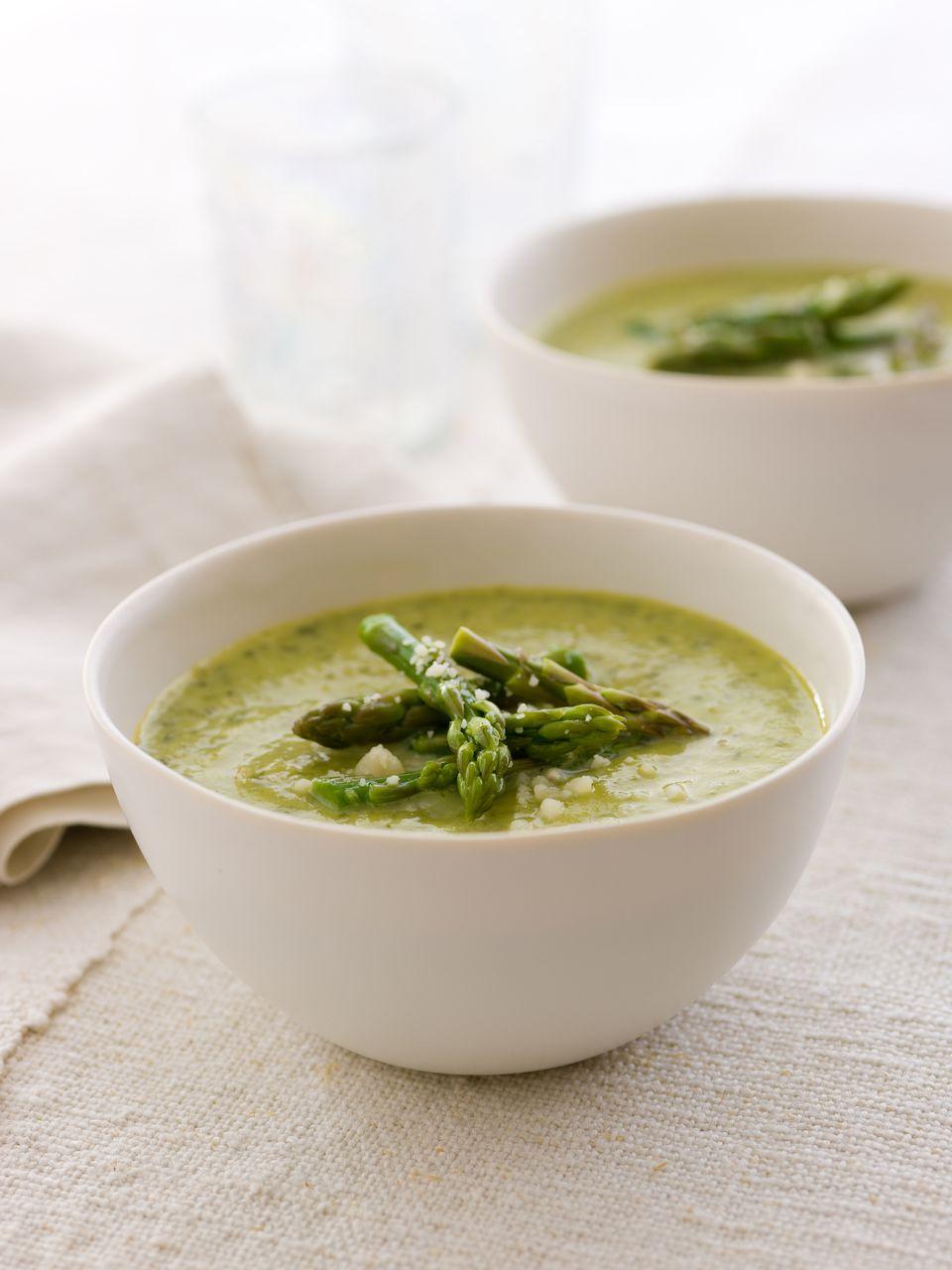 Crema básica de sopa de espárragos