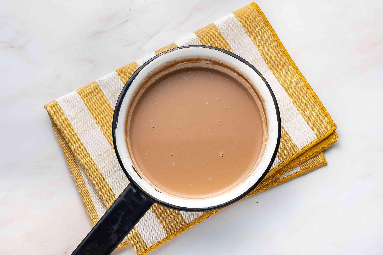 Spanish Hot Chocolate (Chocolate Caliente) in a saucepan