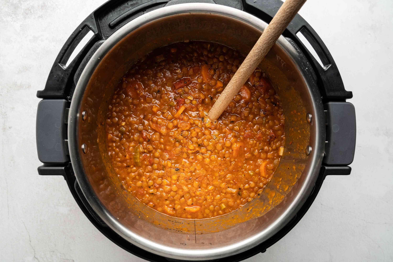 lentil soup in an instant pot