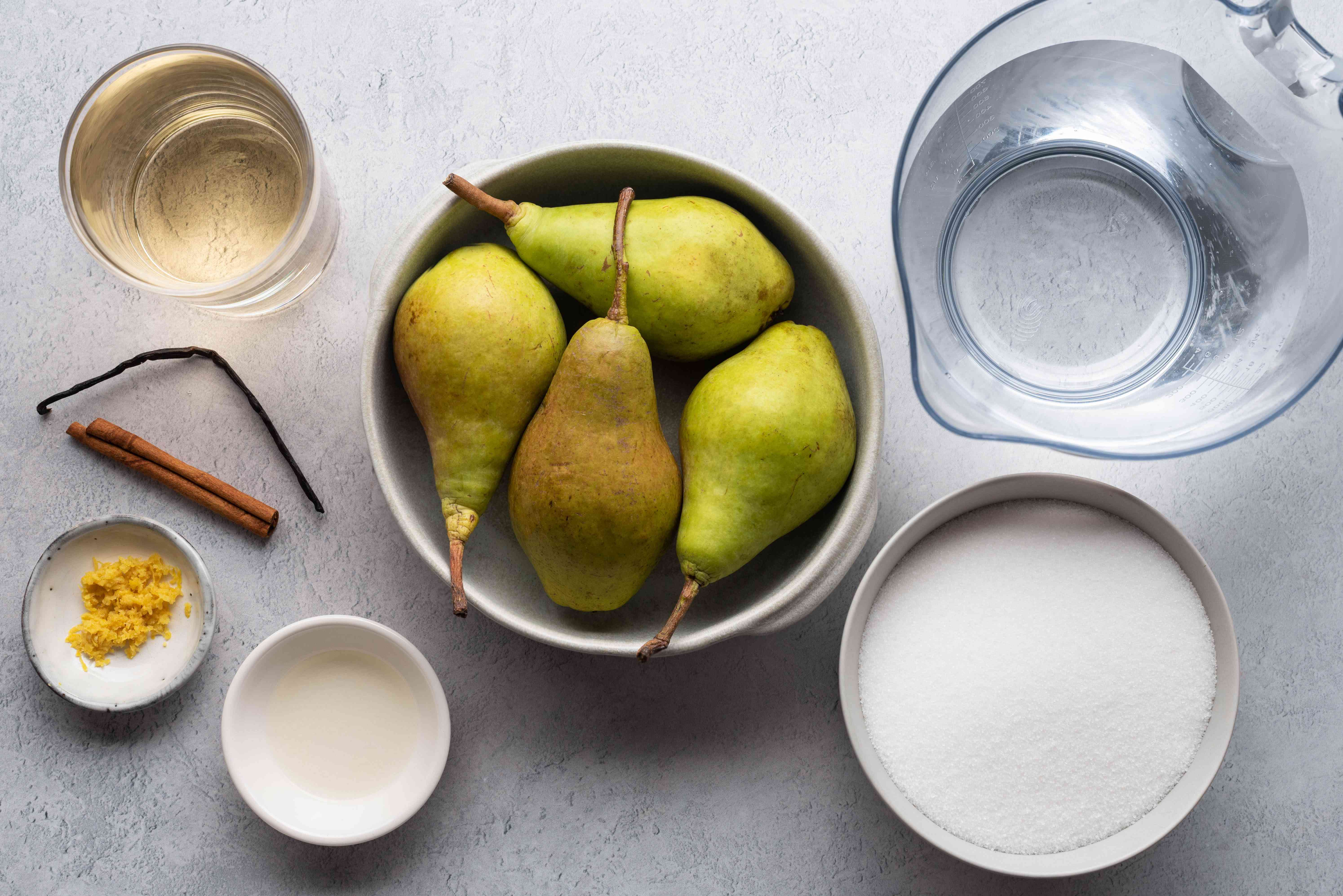 White Wine Poached Pears ingredients