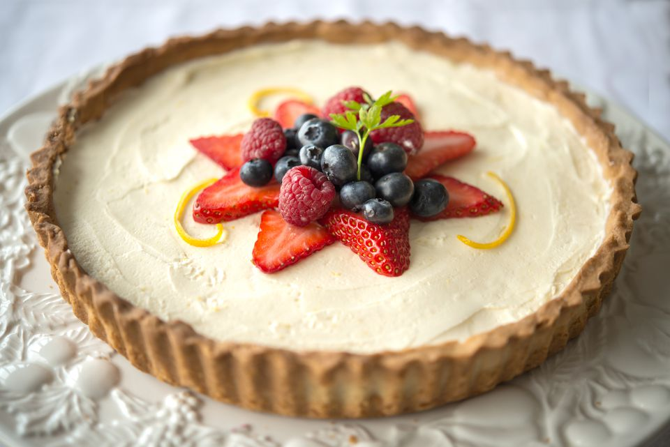 Berry Lemon Mascarpone Tart