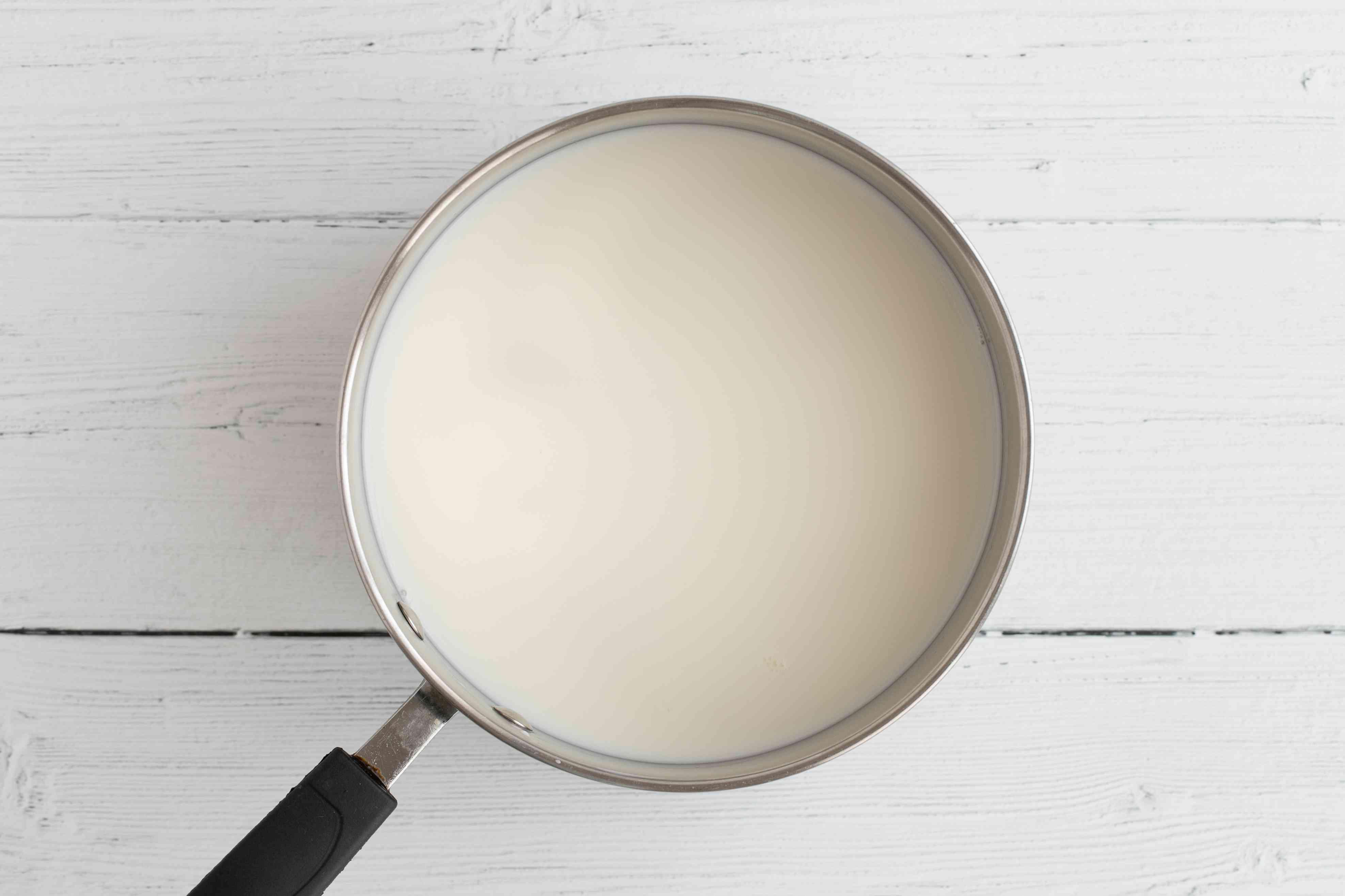 Milk in a pot