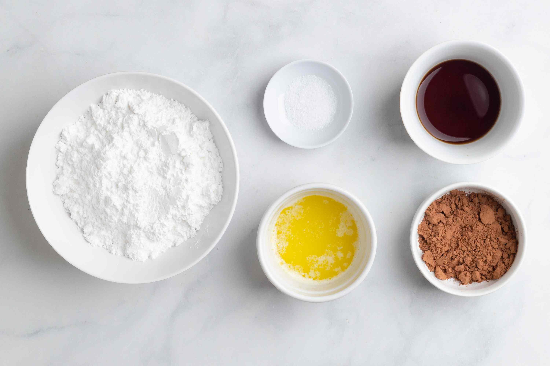 Mocha Glaze ingredients