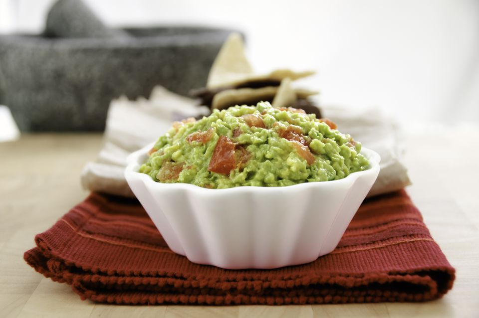 Fresh Homemade Guacamole (Horizontal)