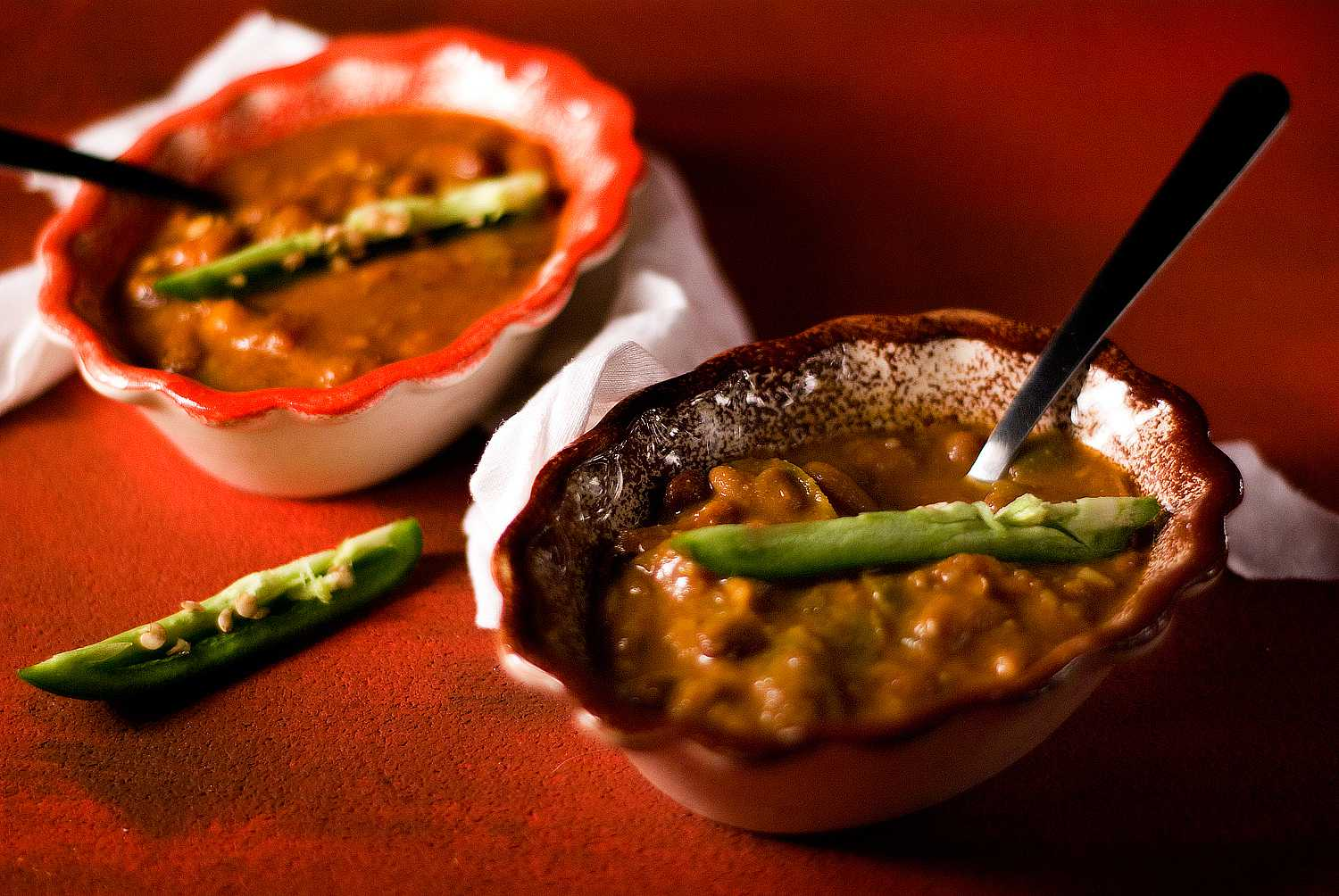 Vegan Chili with Spicy Green Peppers