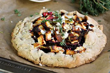 Beet Galette with Feta Cheese and Za'atar