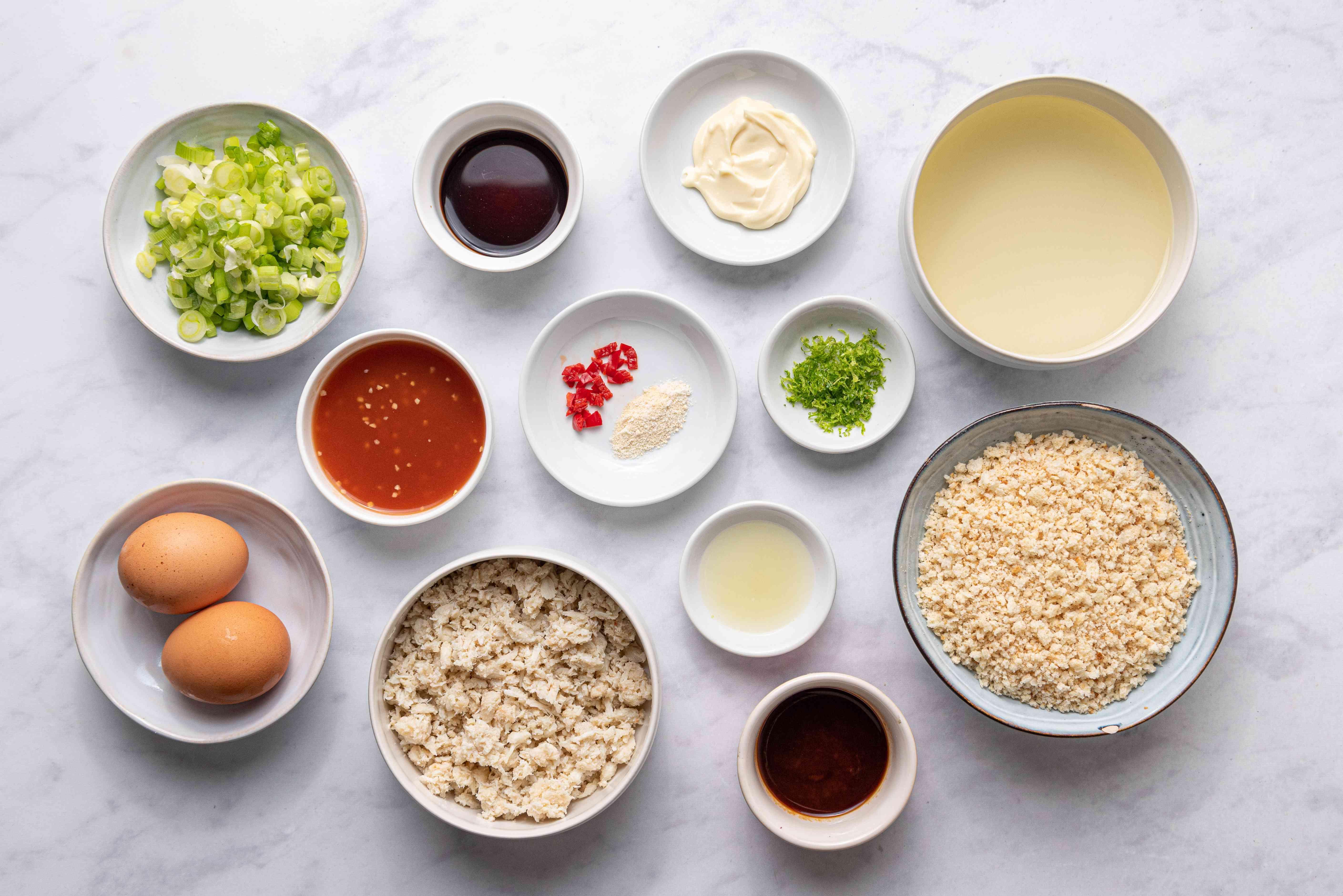 Thai Crab Cakes ingredients