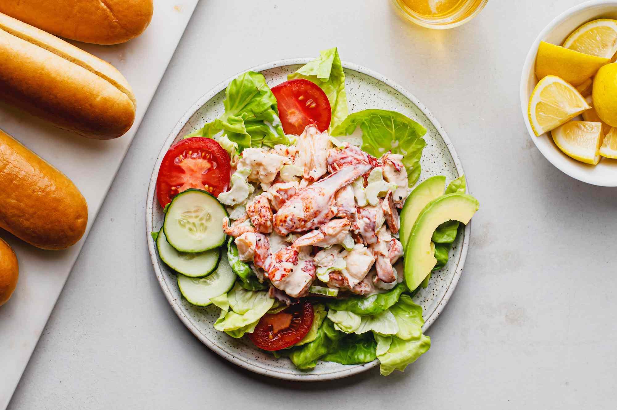 Boiled lobster salad recipe