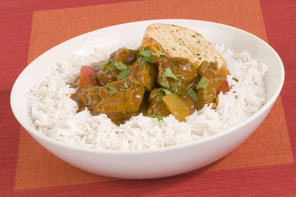 Curry simple de res con arroz