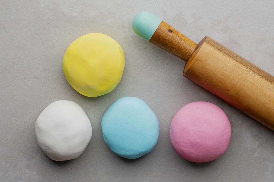 Colored fondant