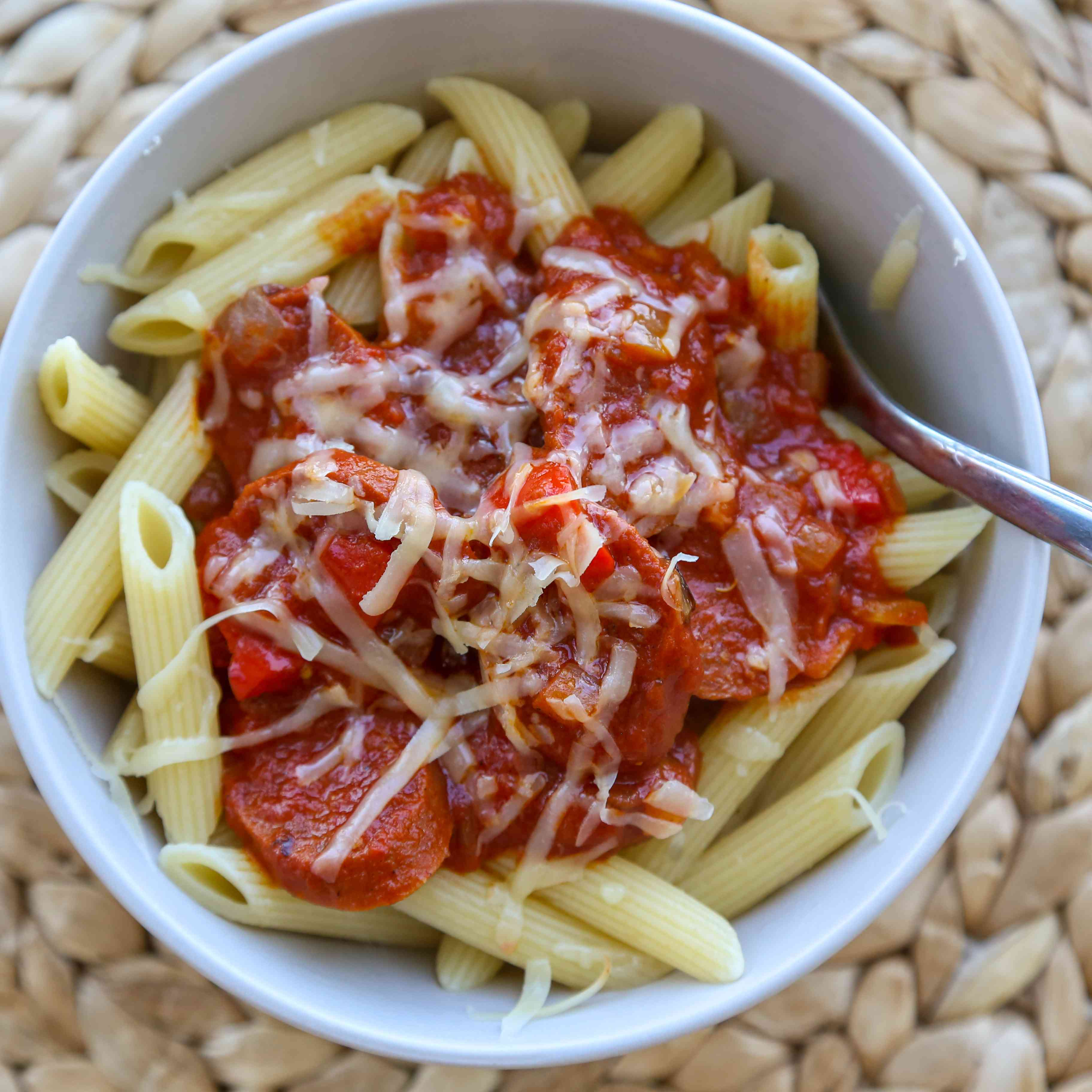 Spanish Pasta With Chorizo and Tomatoes Tester Image