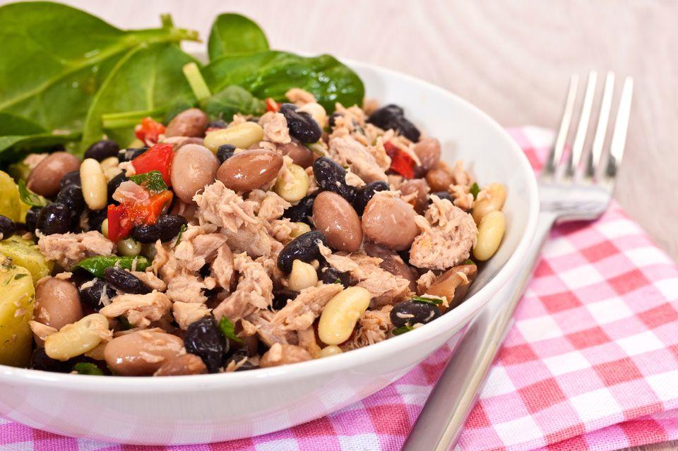 Mixed Salad of Tuna and Beans