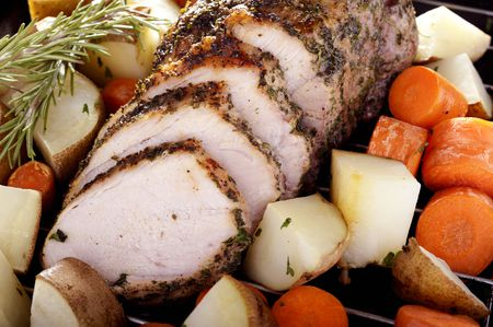 Crockpot Garlic Pork Roast Recipe