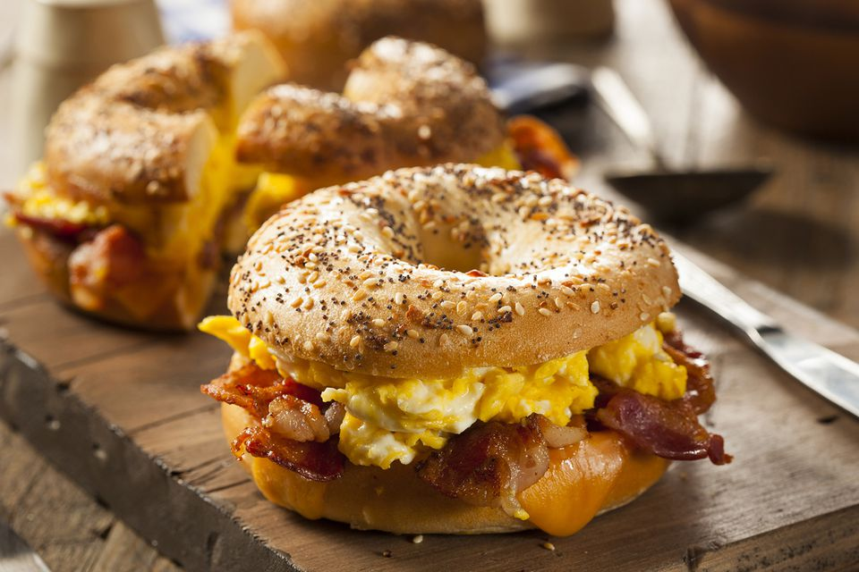 Hearty Breakfast Sandwich on a Bagel