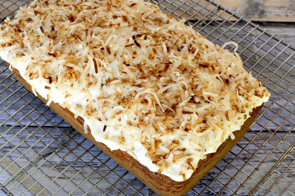 Sweet Potato Loaf Cake with Cream Cheese Frosting