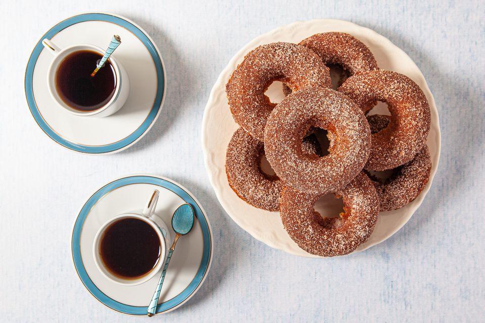Keto Donuts de canela y azúcar
