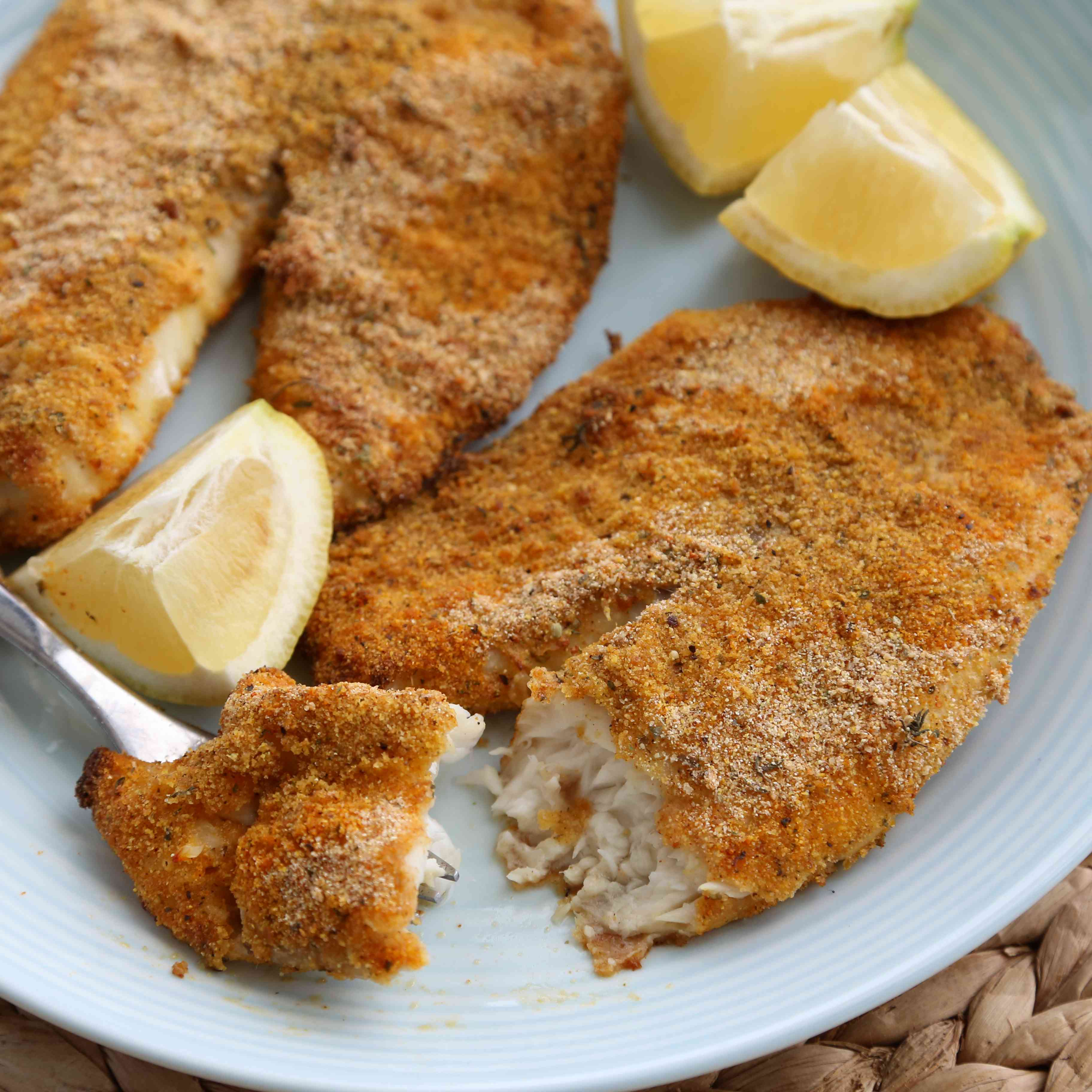Oven Fried Tilapia Tester Image