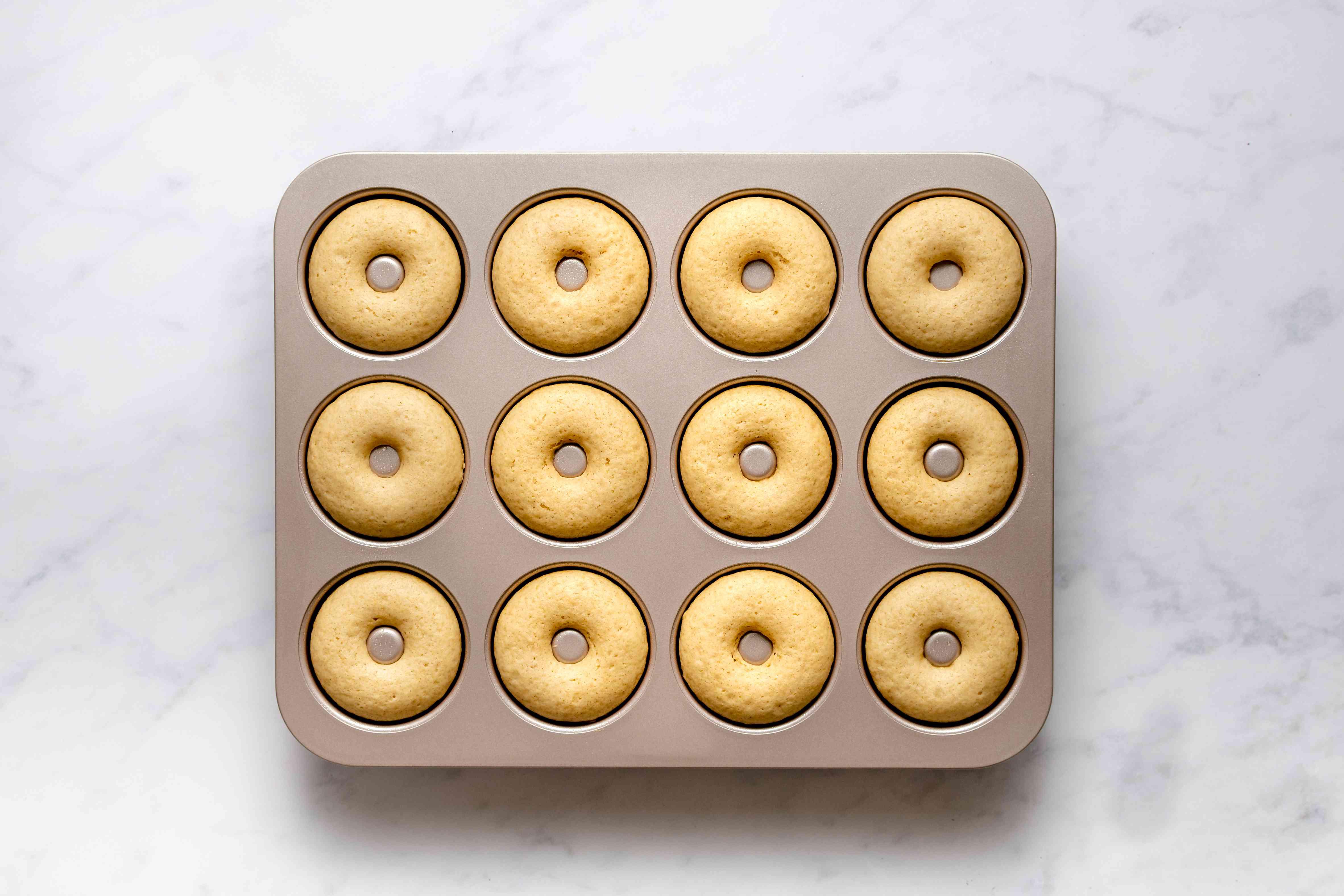 baked doughnuts in a doughnut pan