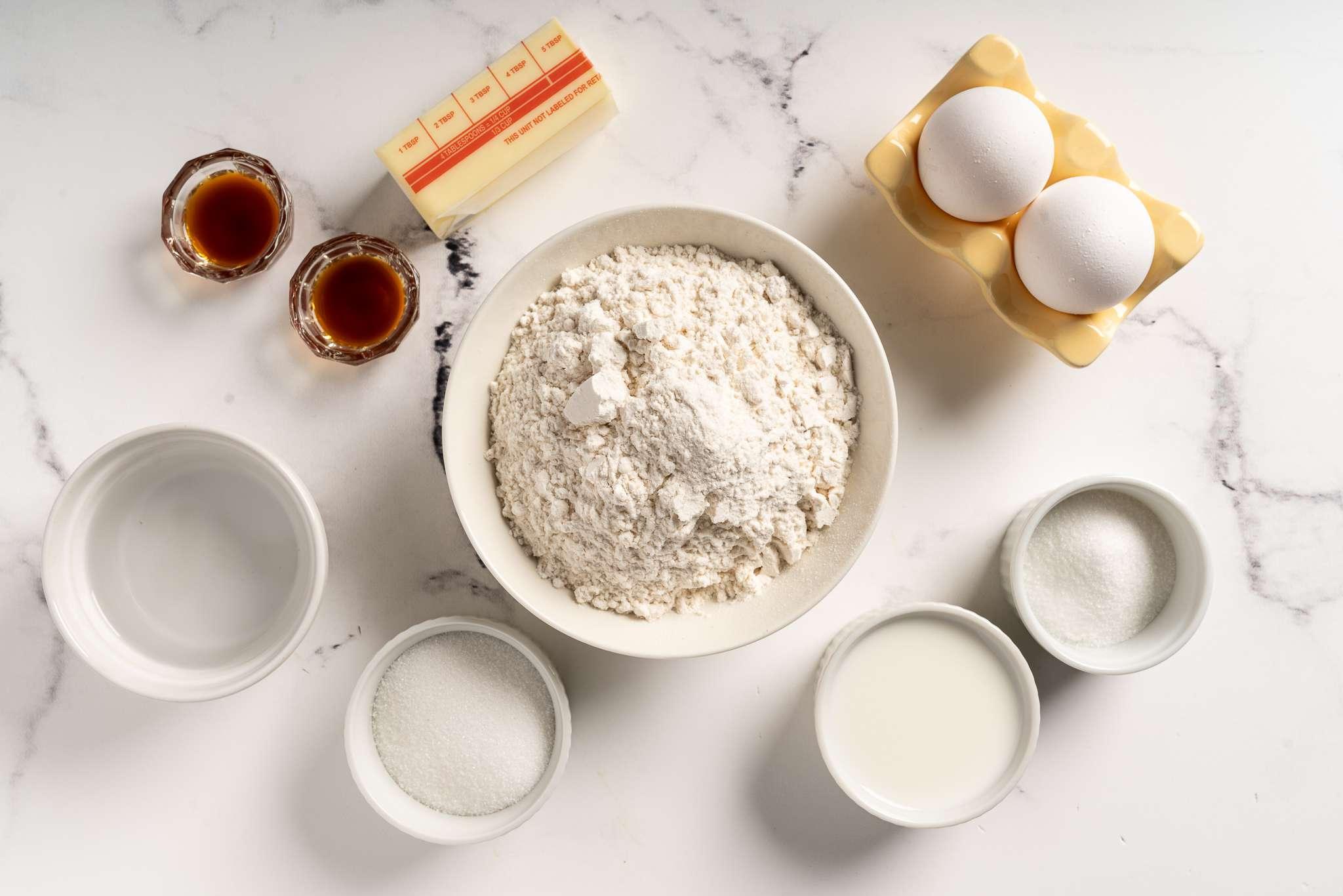 Egg Tarts ingredients