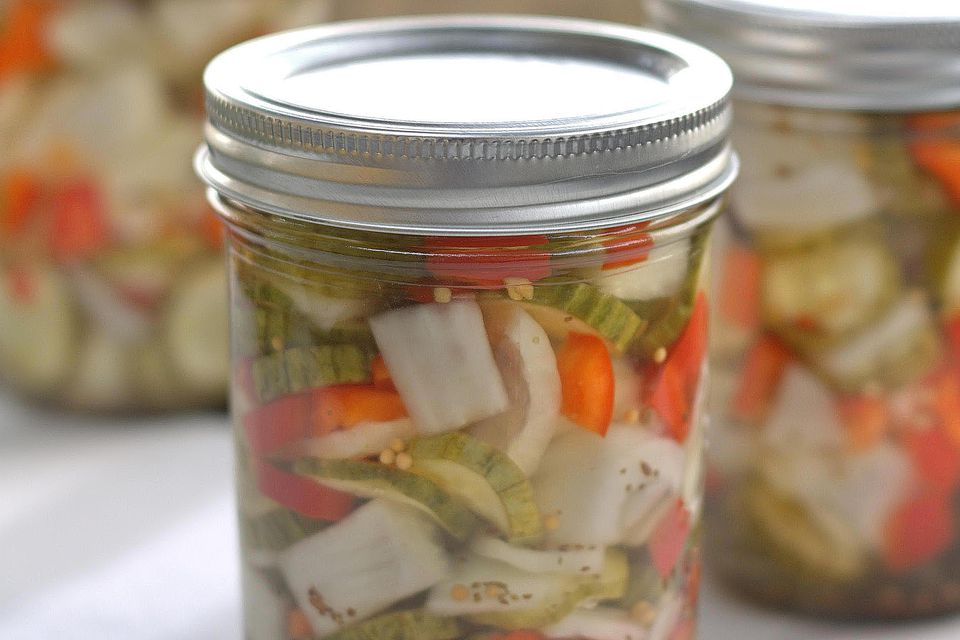 Canned Pickled Vegetables