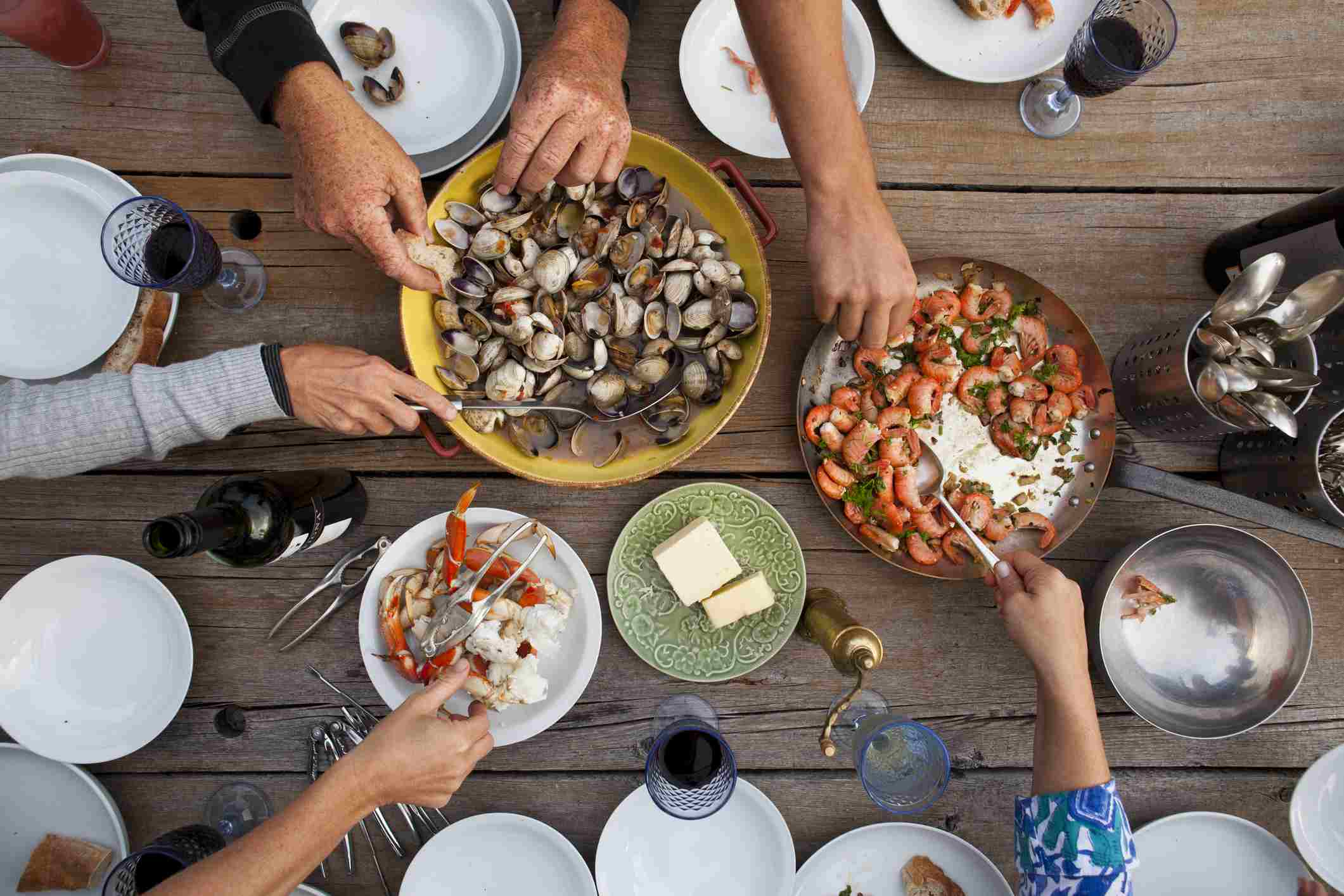 Seafood smorgasborg