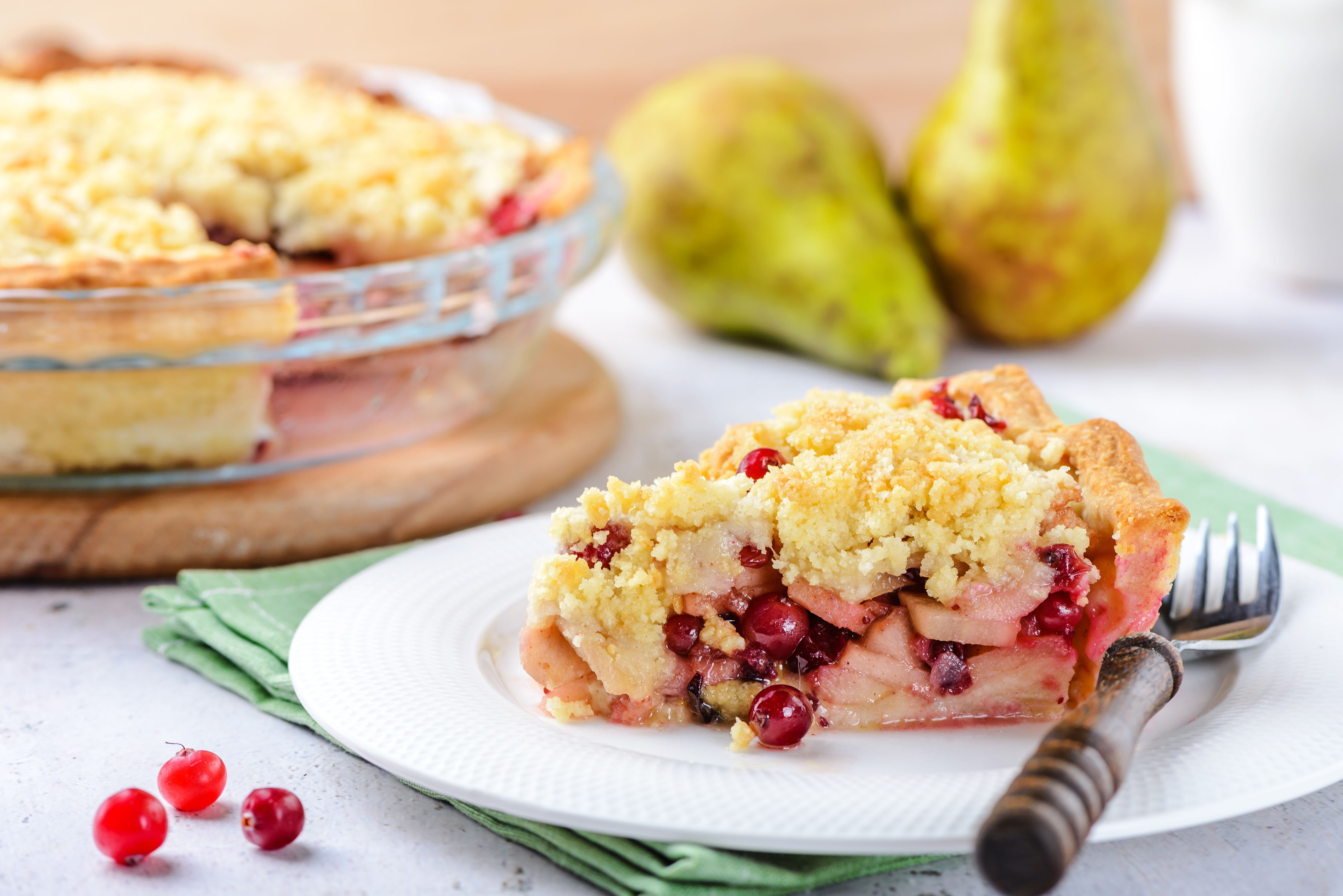 Vegan Cranberry and Pear Holiday Pie Recipe