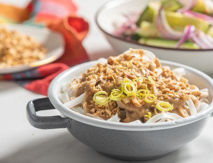 Thai peanut sauce with ginger recipe