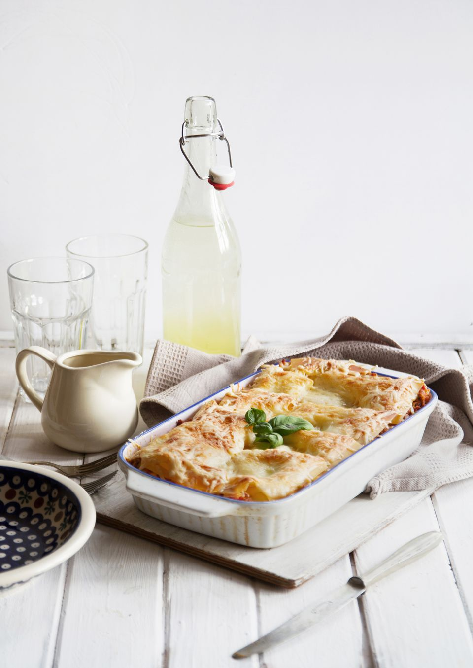 White vegetable lasagne