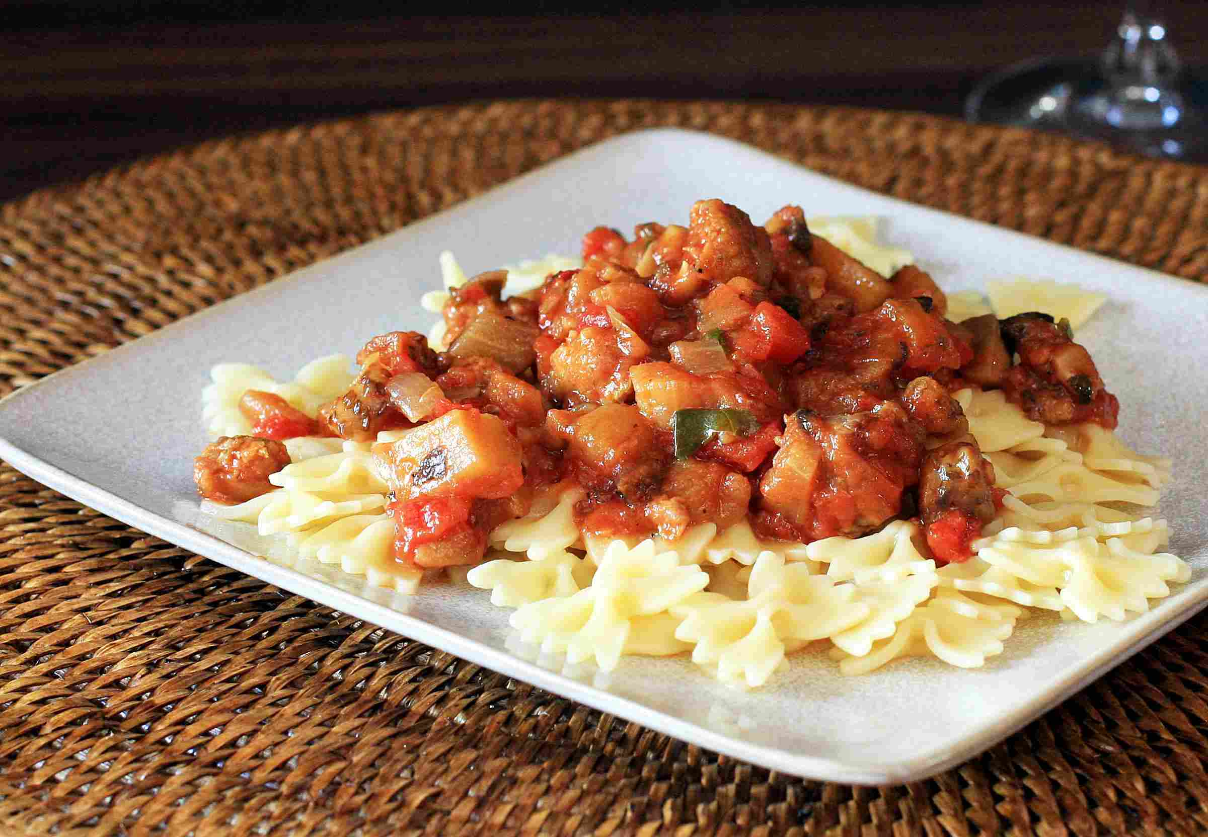 Sausage and Eggplant Sauce for Pasta