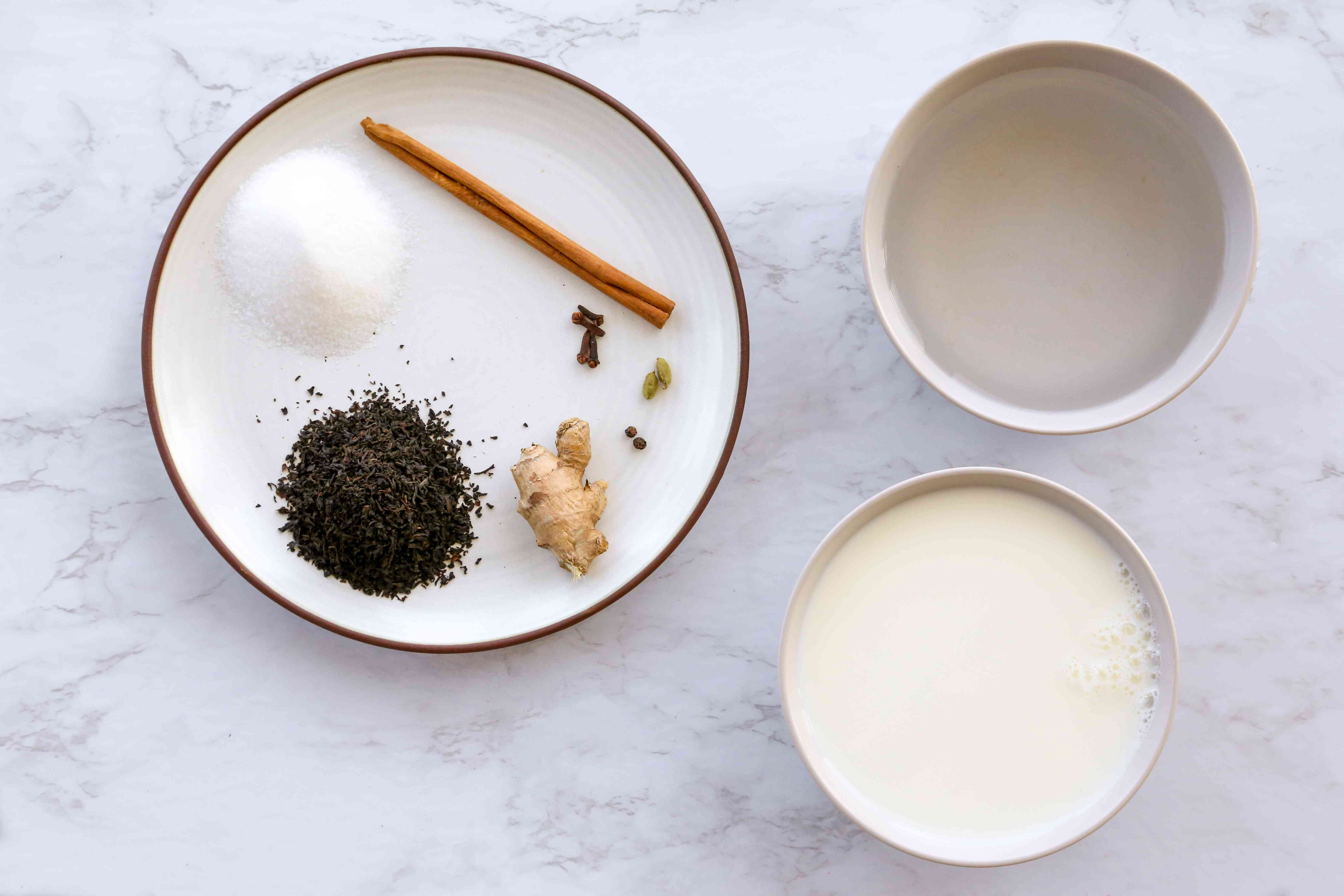 Homemade Masala Chai (Chai Tea) ingredients