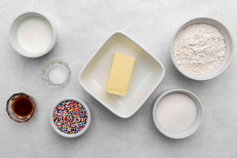 ingredients for edible sugar cookie dough