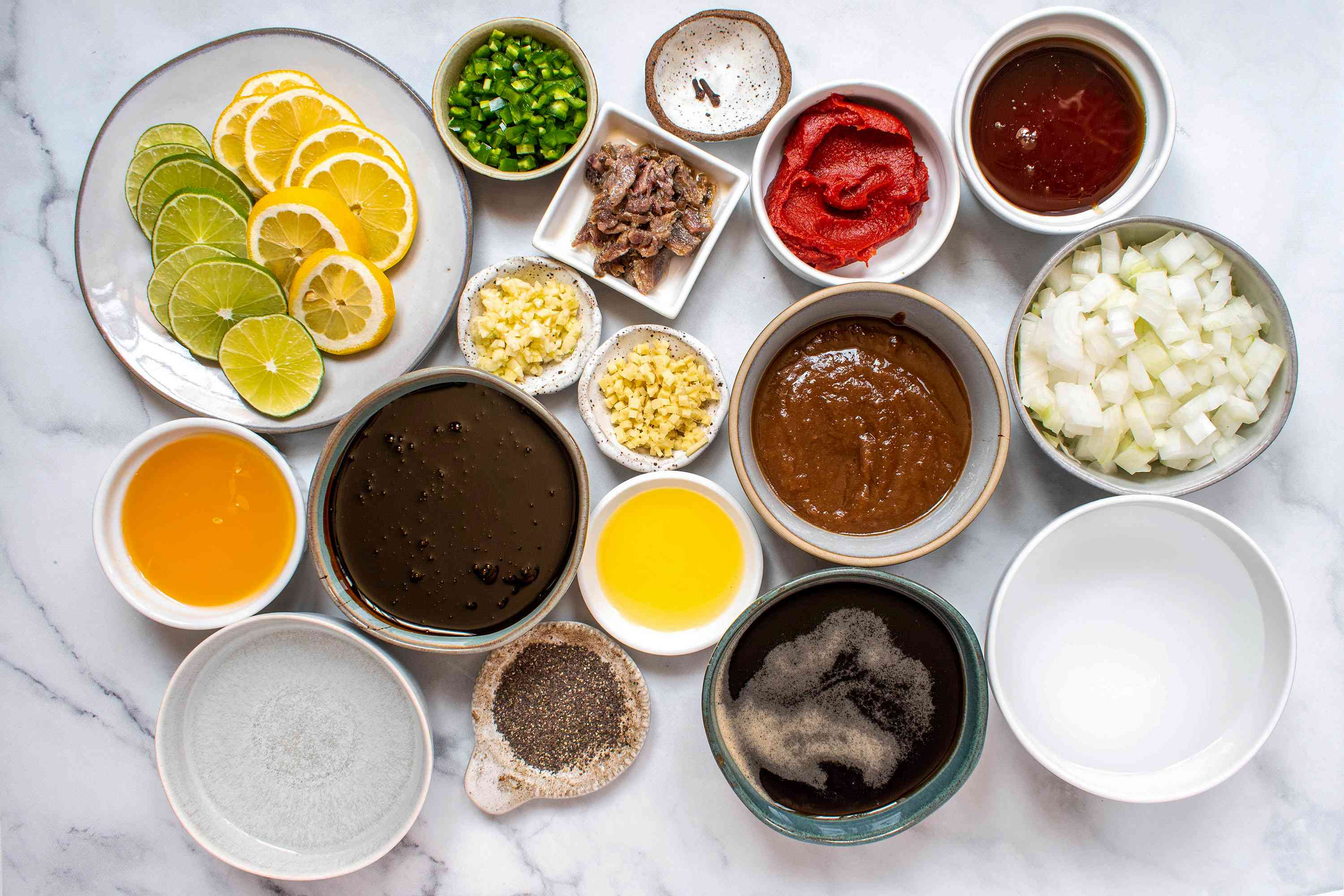 Homemade Worcestershire sauce ingredients