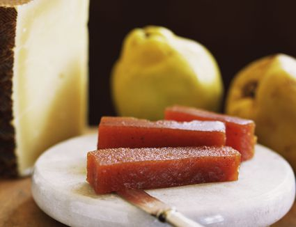 Quince Paste on plate