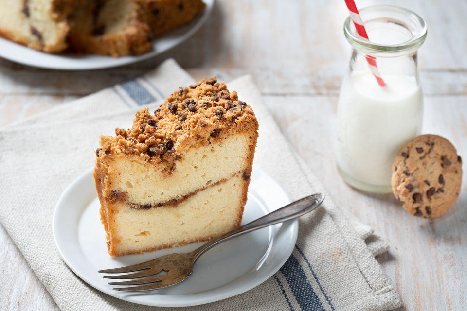 Pastel de galleta con chispas de chocolate