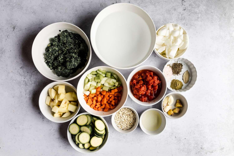 Herbed Vegetable Soup ingredients