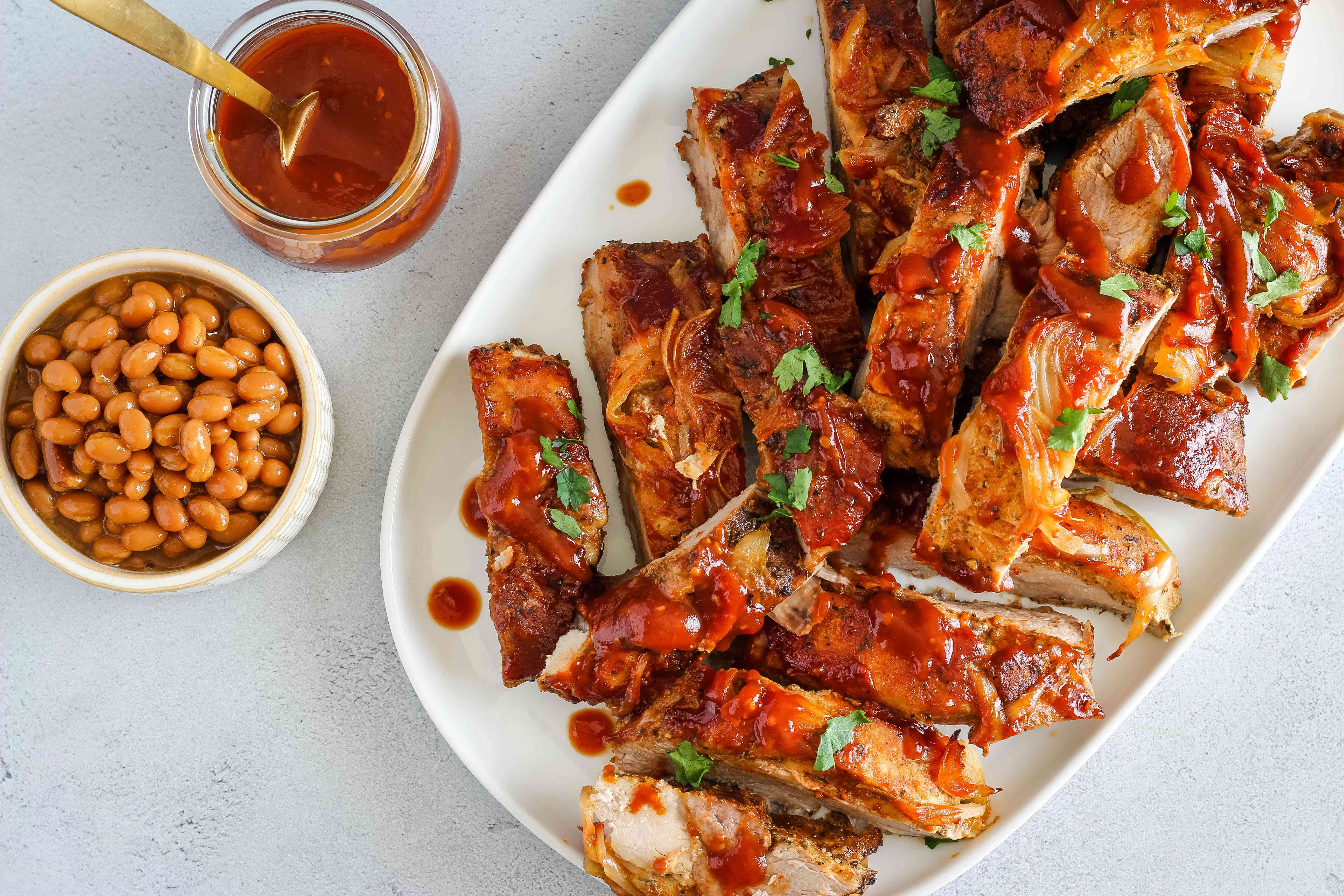 Easy baked barbecued country style ribs recipe