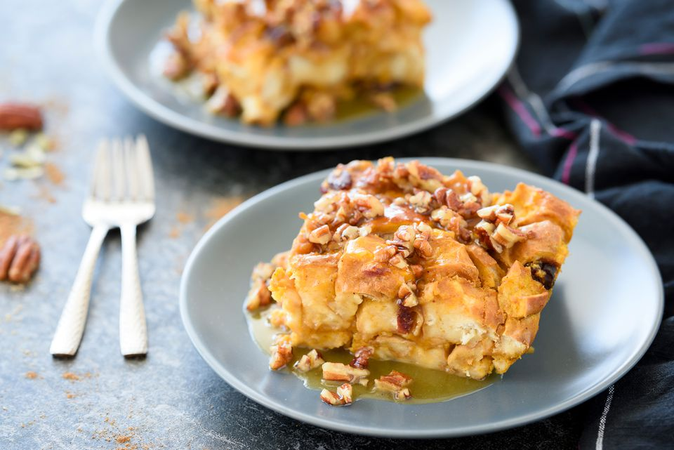 Pumpkin cranberry bread pudding recipe