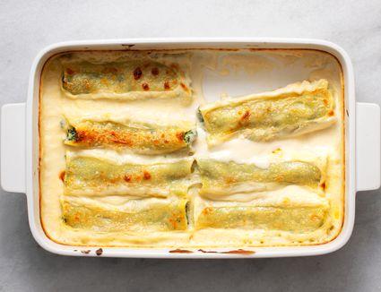 Spinach and Ricotta Cannelloni/Manicotti (Cannelloni ricotta e spinaci)