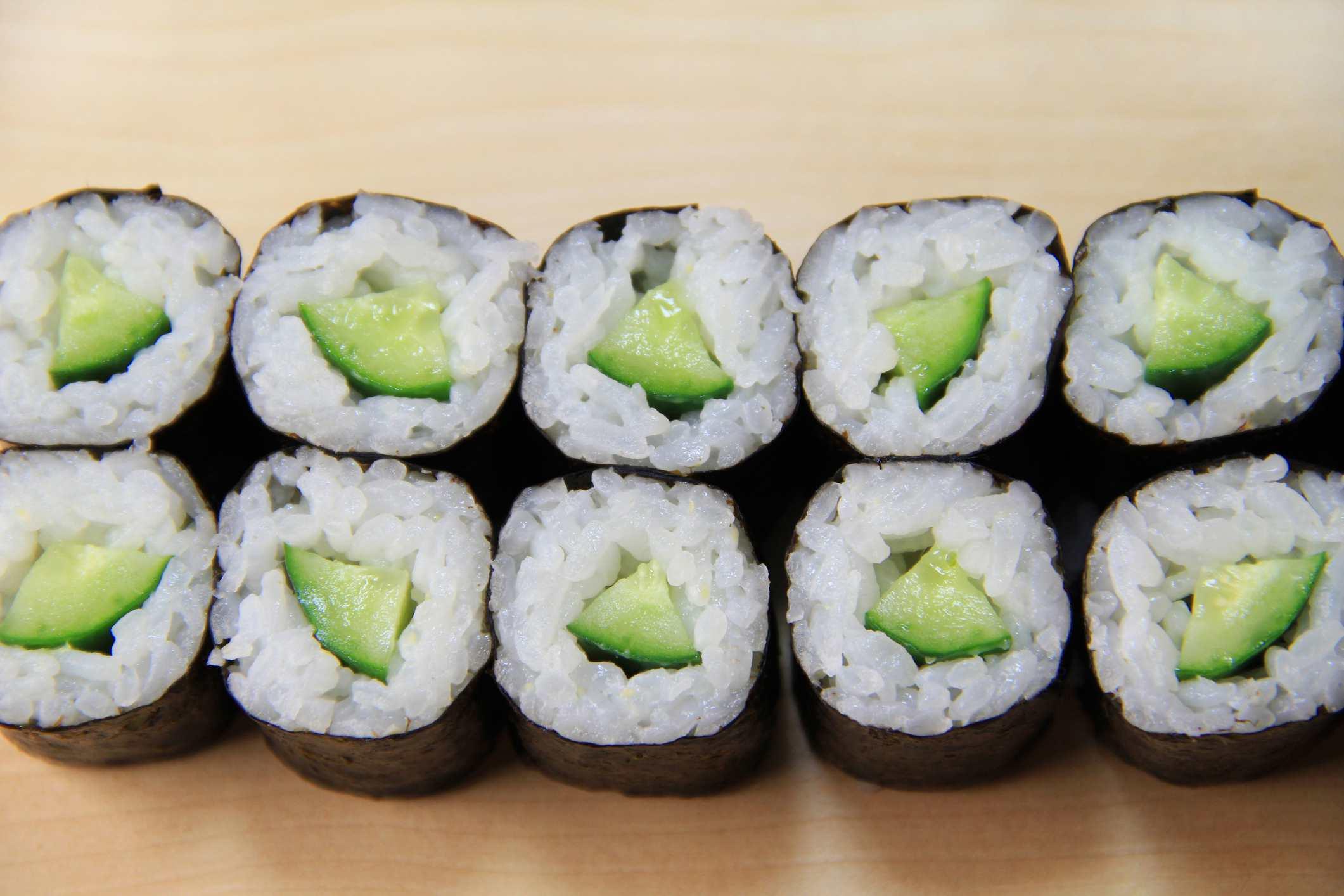 Kappamaki (cucumber rolls)