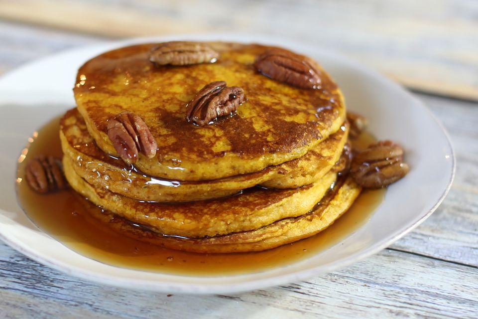 Pumpkin Cornmeal Pancakes Spice Up Breakfast