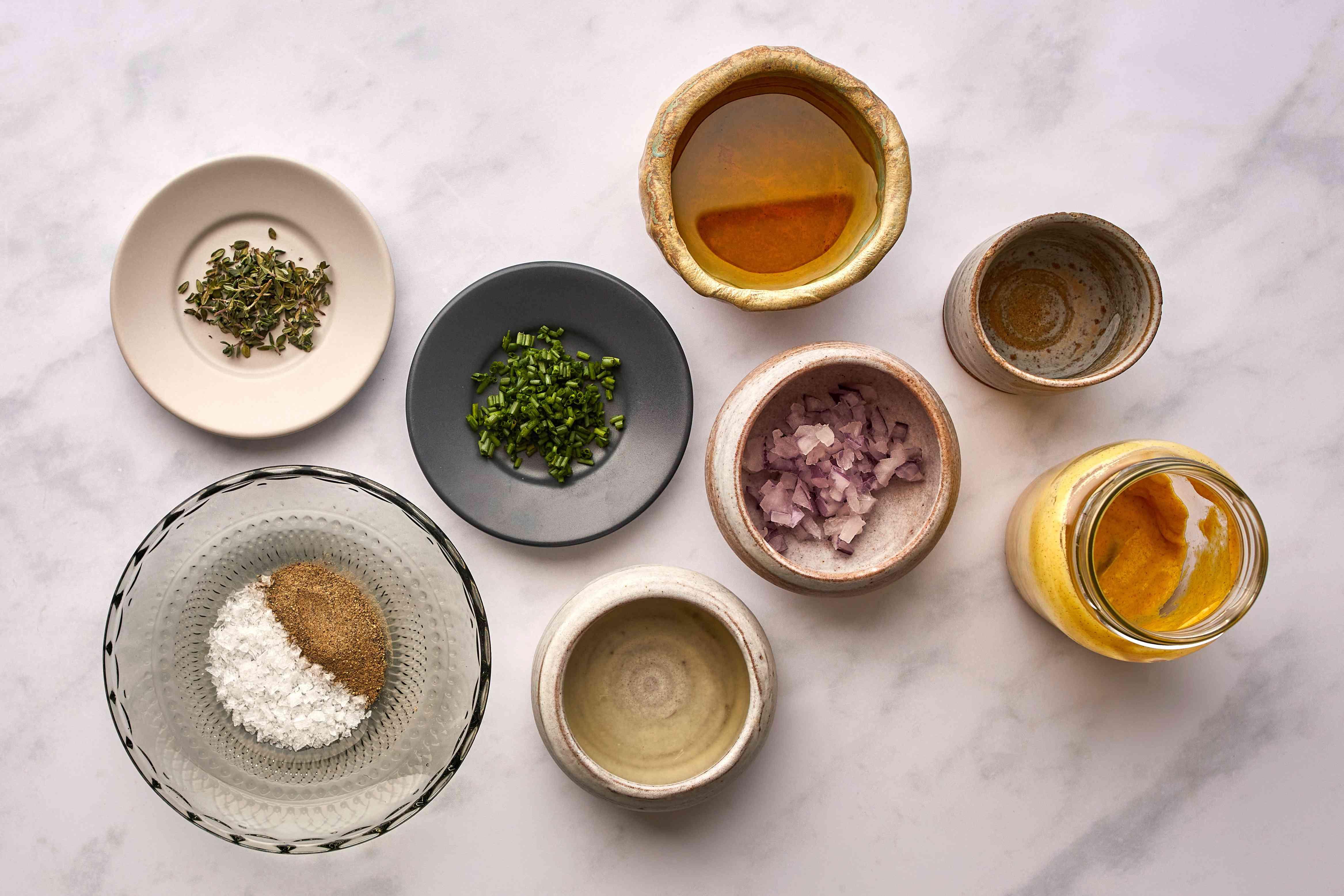 Easy Mustard Jar Salad Dressing ingredients
