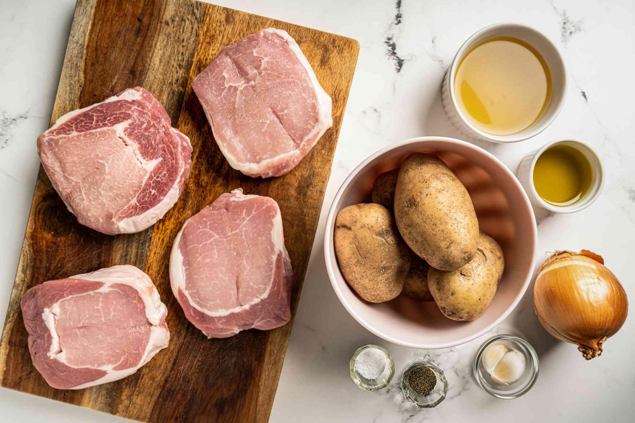 Sheet Pan Pork Chops and Potatoes ingredients