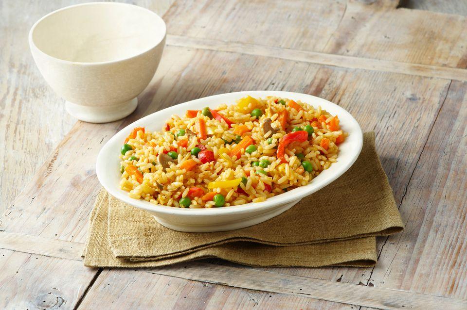 Cazuela de atún y arroz con queso